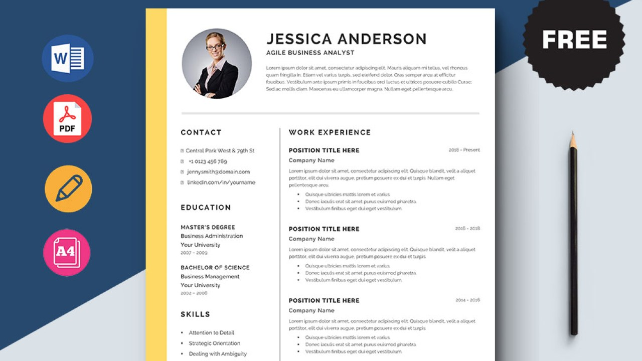 free agile business analyst resume template with elegant look sample firefighter Resume Business Analyst Agile Resume Sample