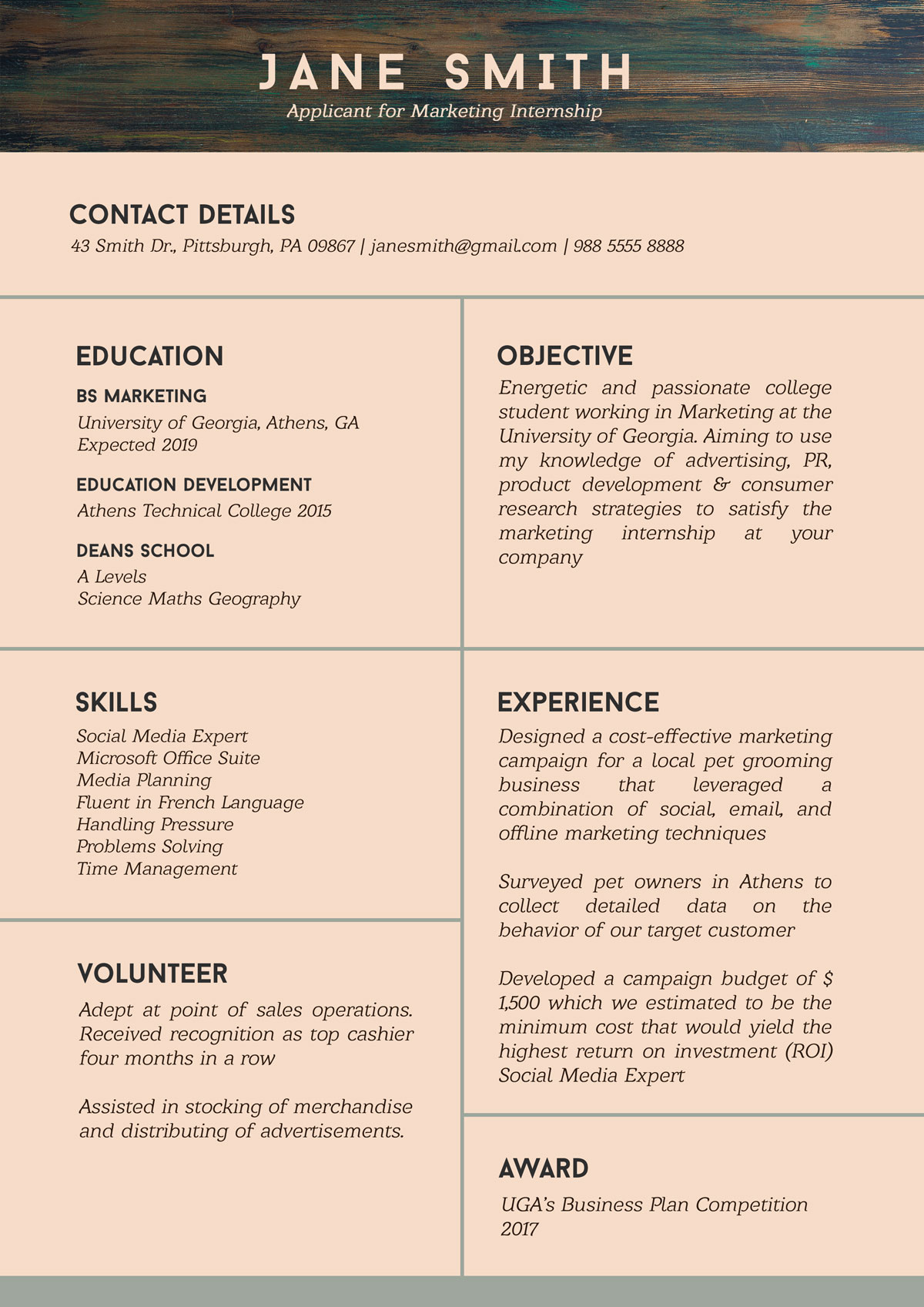 free resume template for internship student with no experience designbolts sample stoke Resume Free Resume Sample Stoke Machandise