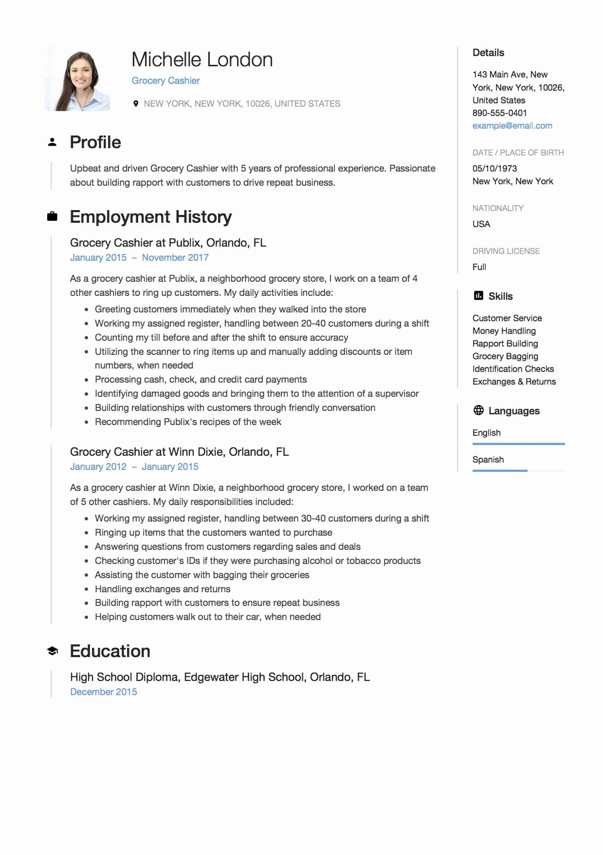 grocery store cashier resume unique sample free downloads in customer service microsoft Resume Service Cashier Resume Sample