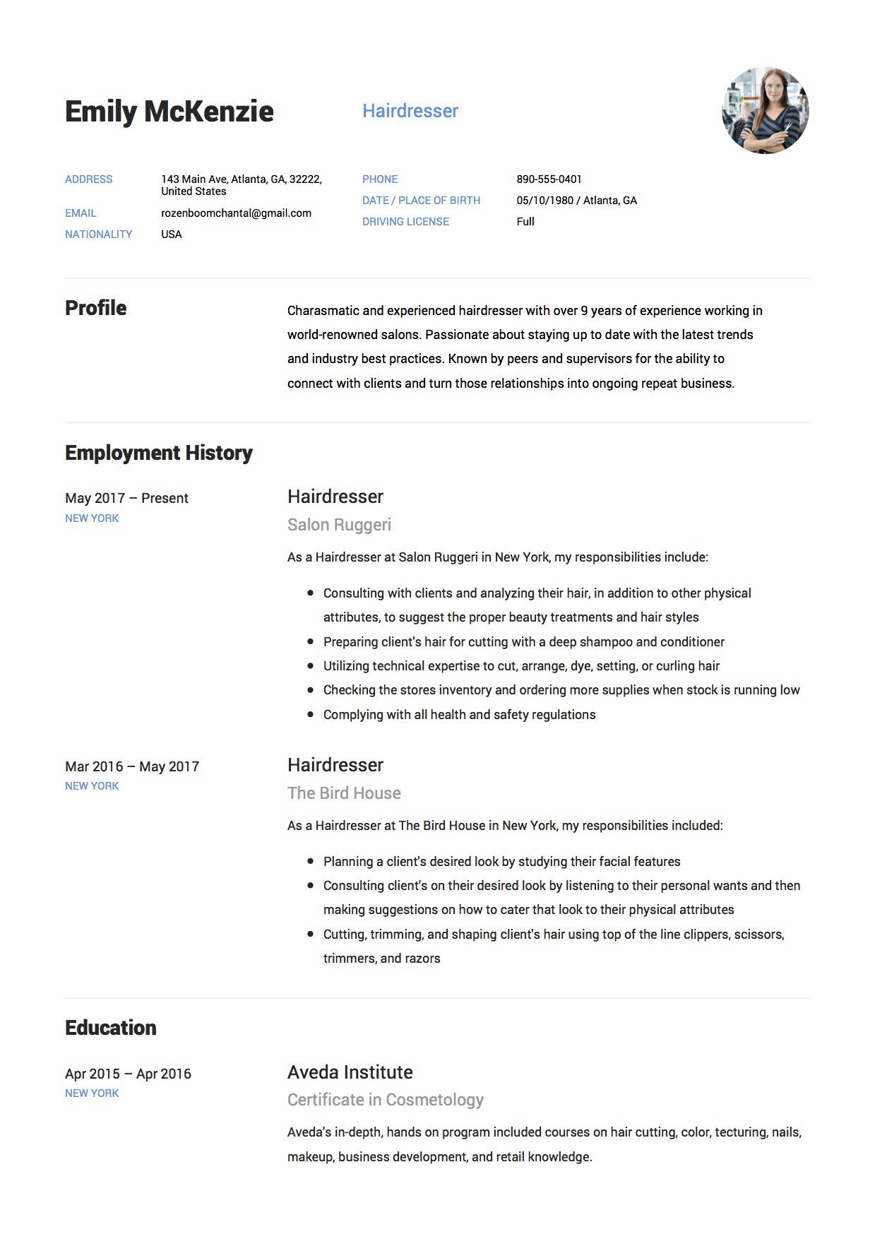 hair stylist resume example professional sample unbelievable templates high definition Resume Professional Hair Stylist Resume Sample
