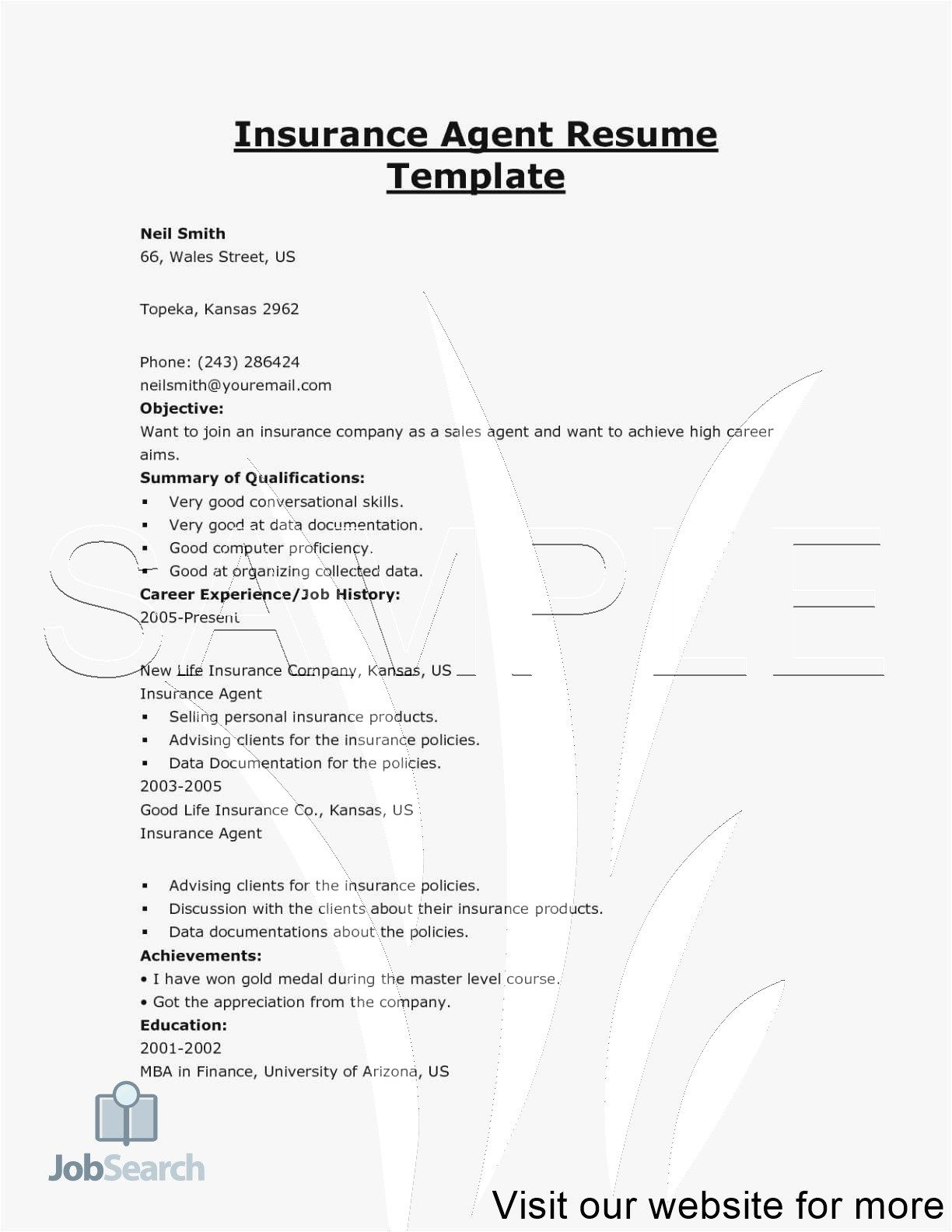 insurance agent website examples life resume sample verification service ministry Resume Life Insurance Agent Resume Sample