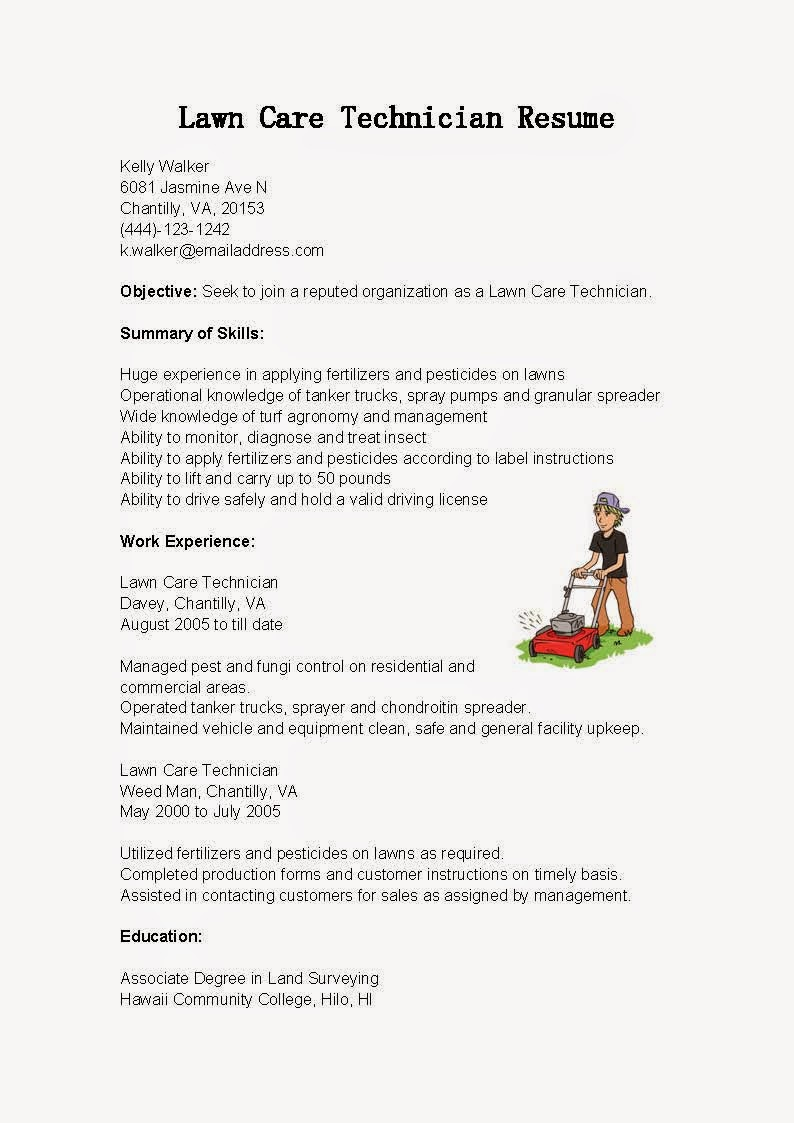 lawn maintenance resume example october sample care technician chief executive officer Resume Lawn Maintenance Resume Sample