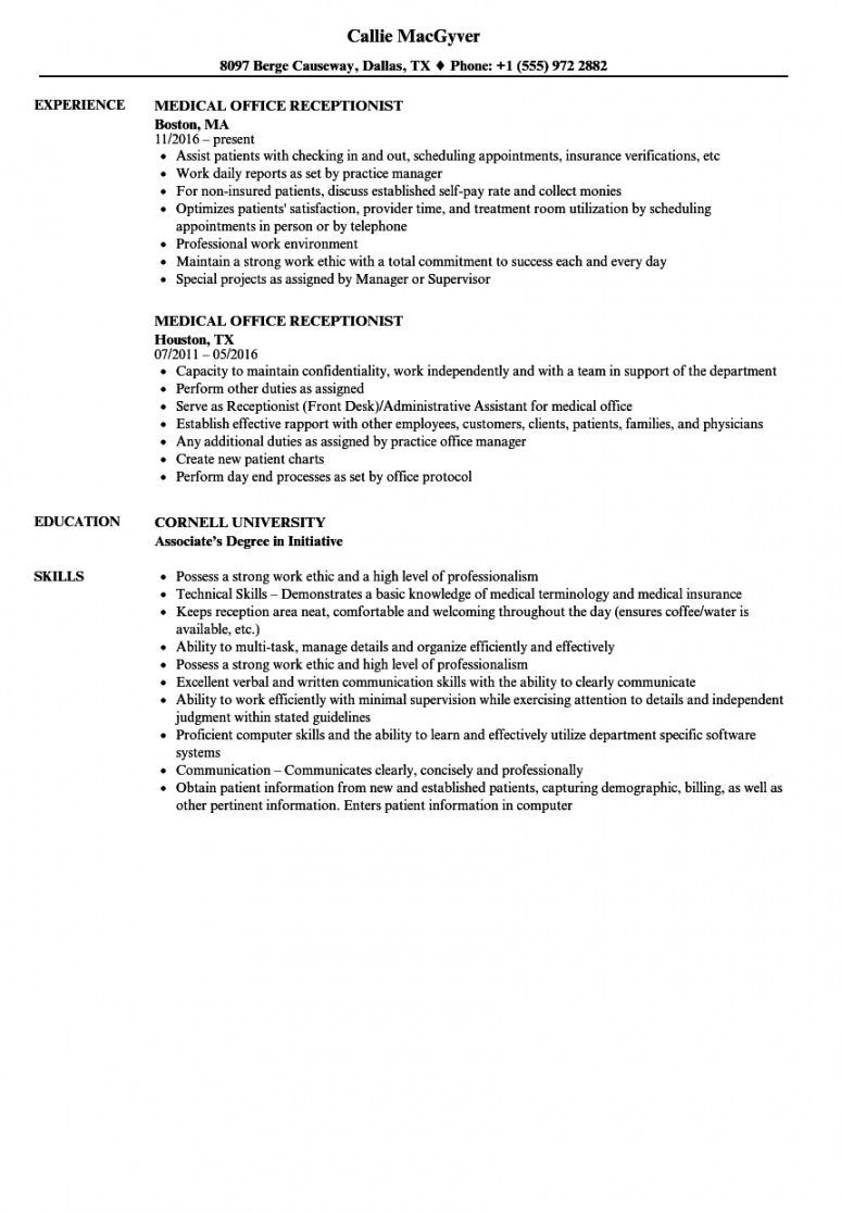 medical receptionist job description template excel example in jobs hospital cleaning Resume Hospital Cleaning Job Resume Sample Pdf