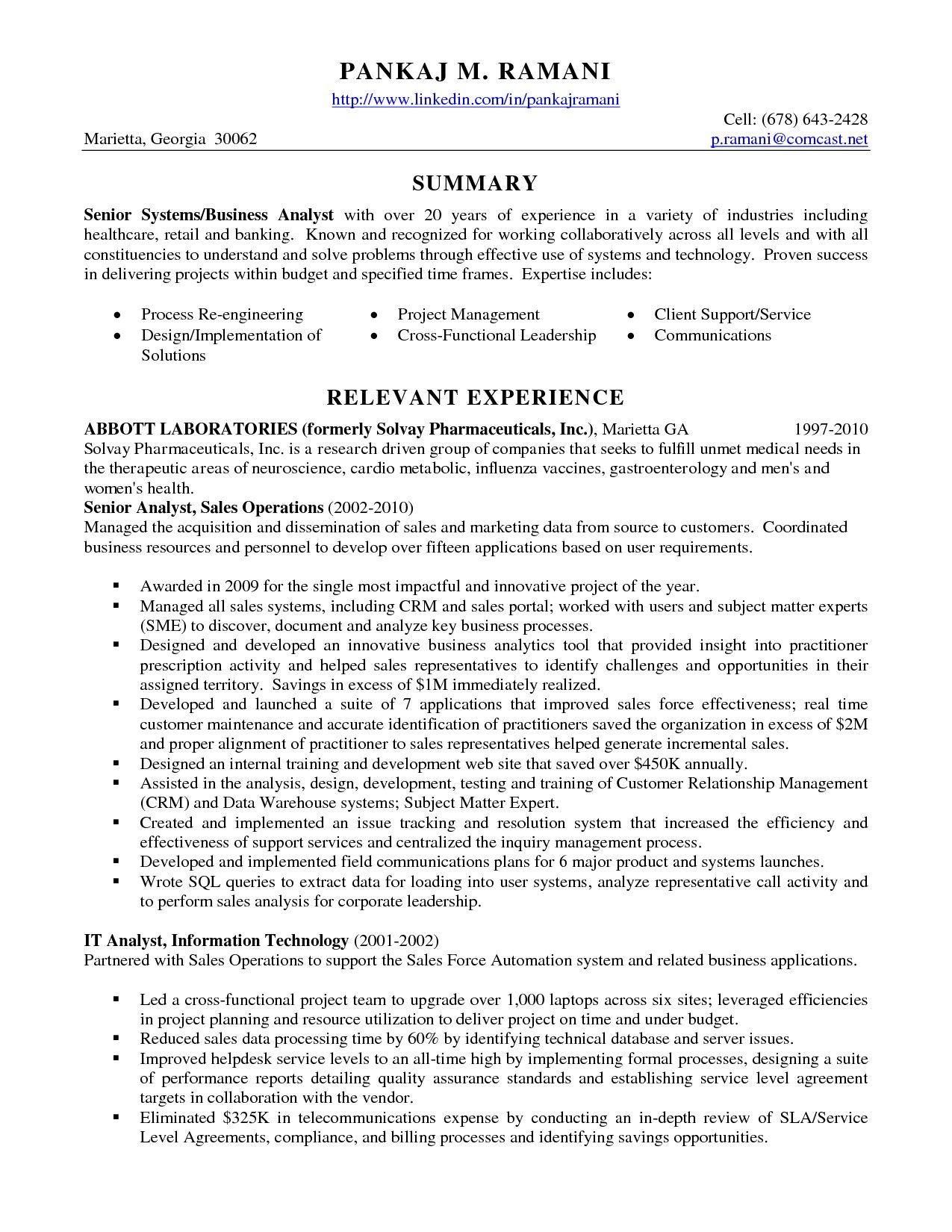 new cv template for business analyst can save at check mo resume sample senior operations Resume Resume Sample Senior Analyst Sales Operations