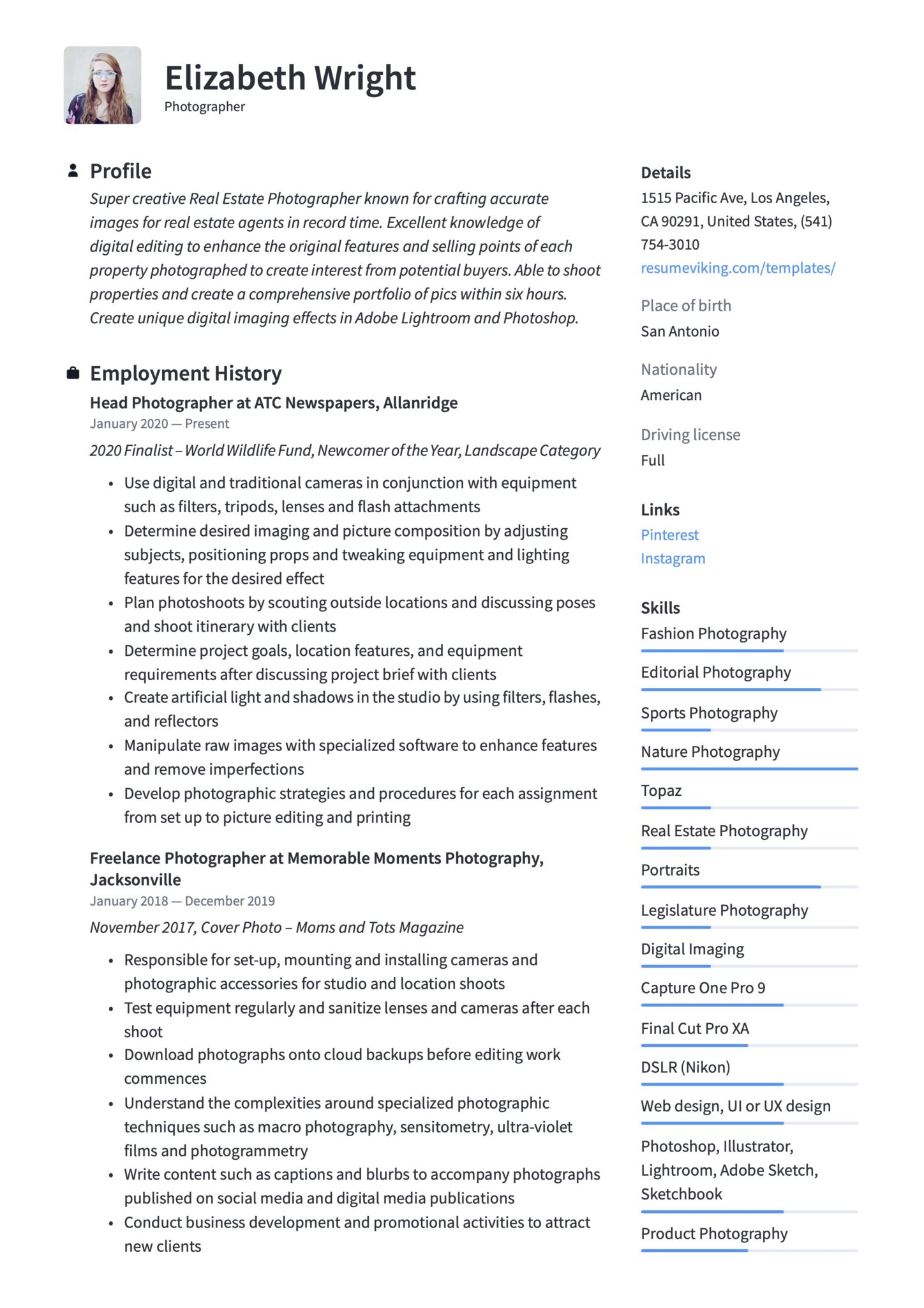 photographer resume writing guide templates free sample stoke machandise scaled for Resume Free Resume Sample Stoke Machandise