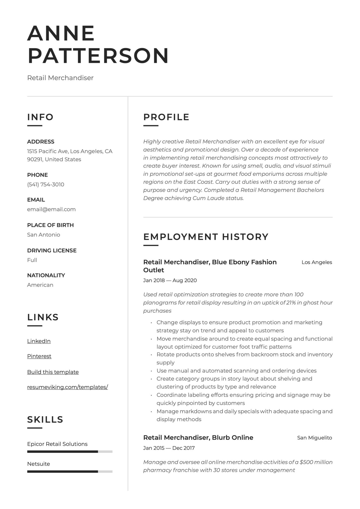 retail merchandiser resume writing guide templates logistics sample scaled science Resume Retail Logistics Resume Sample