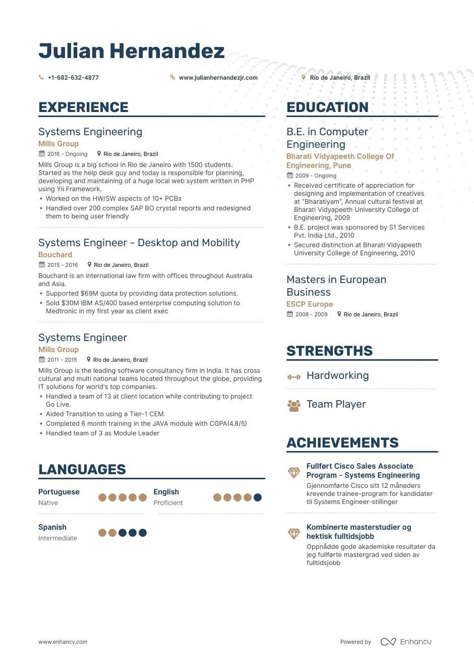 systems engineer resume examples pro tips featured enhancv experience sample for print Resume Experience Engineer Resume Sample